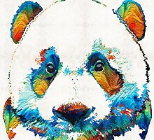 Colorful Panda Bear Art By Sharon Cummings by Sharon Cummings