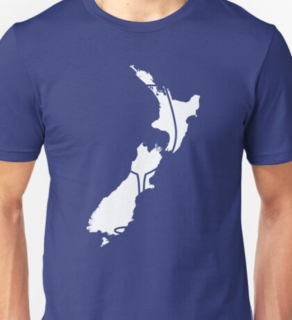 Countries of Wine: New Zealand Unisex T-Shirt