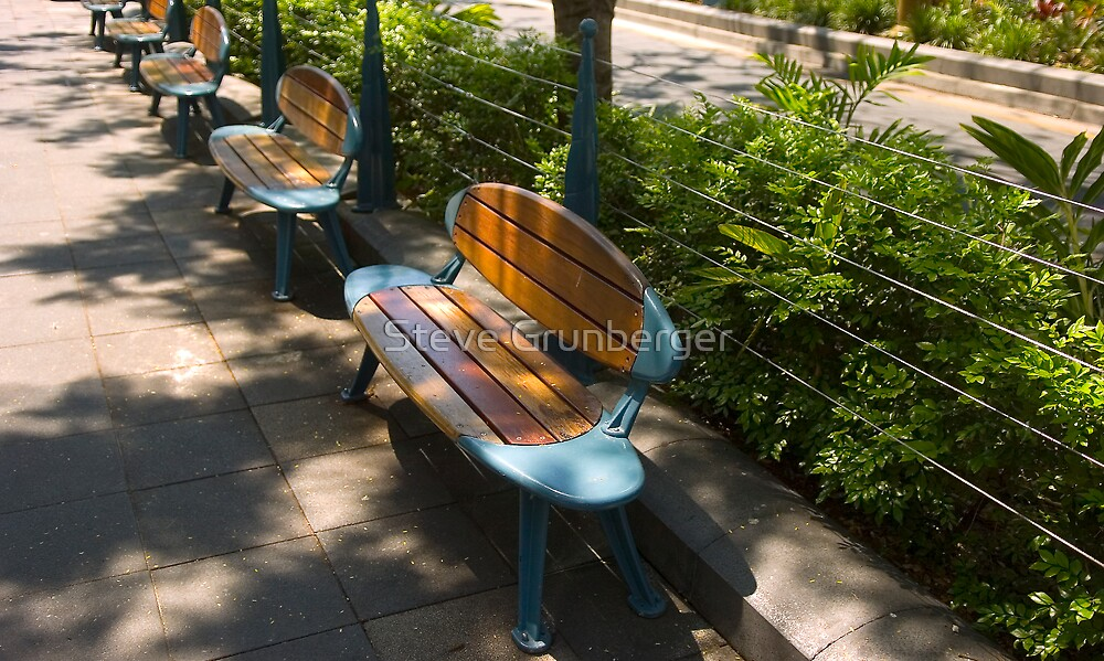 Surfboard Seats - Surfers Paradise by Steve Grunberger