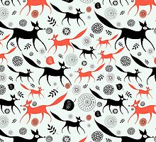 texture of foxes by Tanor