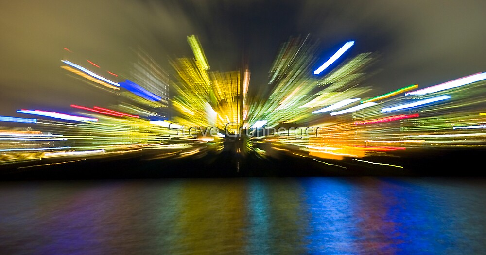 Sydney City Lights - Zoom by Steve Grunberger