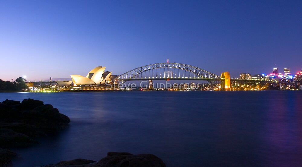 Sydney Harbour - Australia by Steve Grunberger