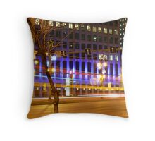 Portage & Main, Looking East Throw Pillow