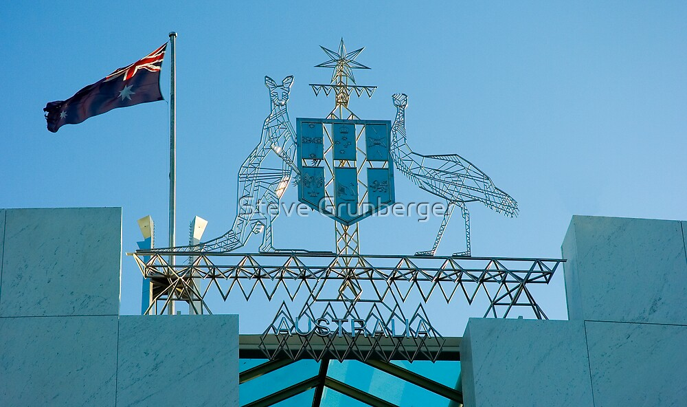 The Coat of Arms - Canberra  by Steve Grunberger