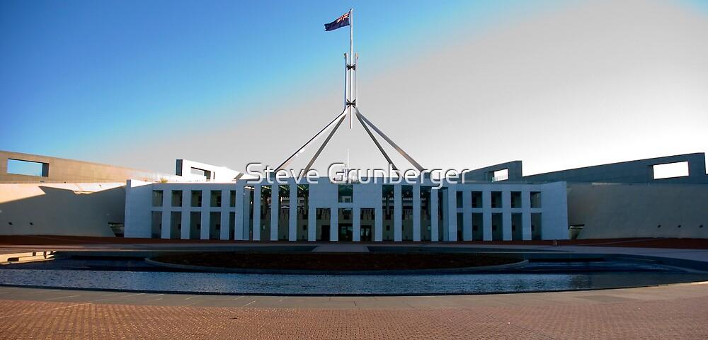 Parliament House Canberra by Steve Grunberger