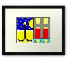 DOGS IN THE MOONLIGHT Framed Print