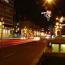 Downtown Winnipeg Night by Geoffrey