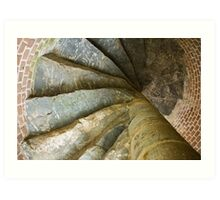 Looking Up The Spiral Stairs Art Print