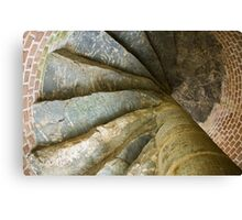 Looking Up The Spiral Stairs Canvas Print
