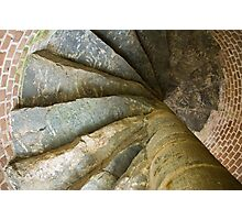 Looking Up The Spiral Stairs Photographic Print