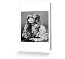 Stevie Nicks The White Witch Vintage Tee Greeting Card