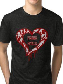 Femme Fatale Game Girls Tri-blend T-Shirt