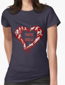 Femme Fatale Game Girls Womens Fitted T-Shirt