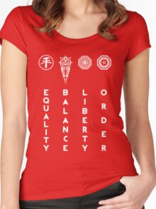 Korra's Antagonists - Legend of Korra (White Lettering) Women's Fitted Scoop T-Shirt