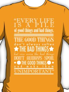 Doctor Who Quote Poster T-Shirt