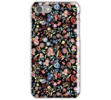 graphic floral pattern of birds iPhone Case/Skin