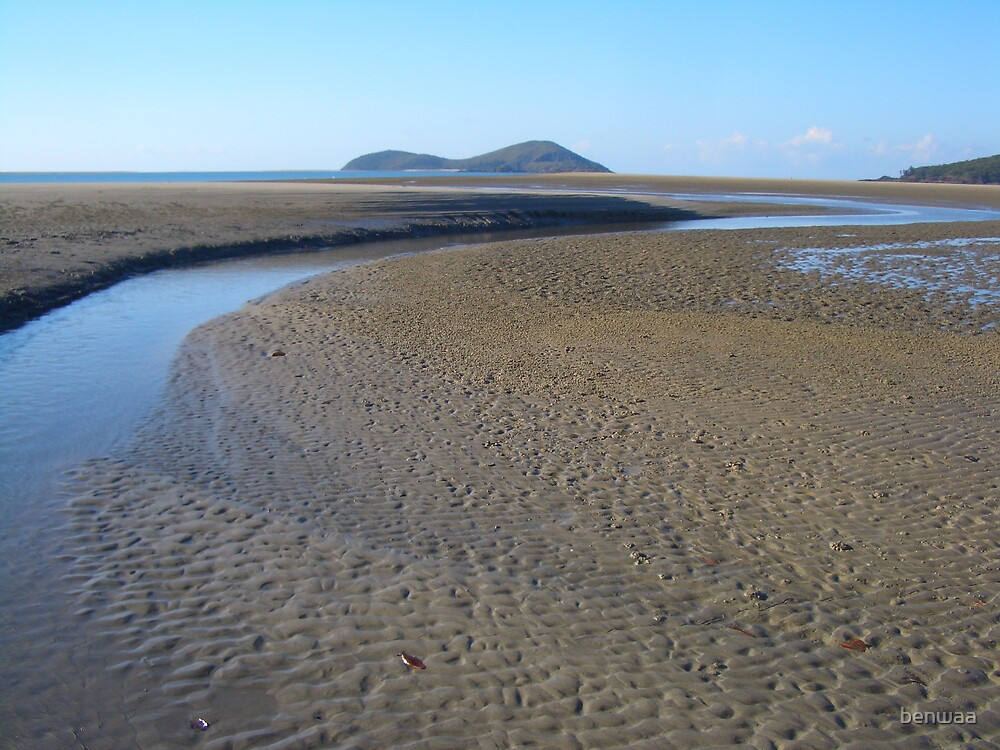 Low tide at Diamond Head Creek - Queensland by benwaa