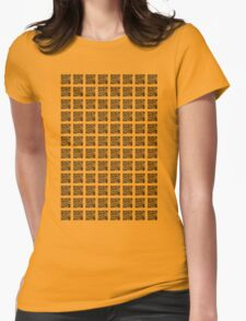 QR QR QR Womens Fitted T-Shirt