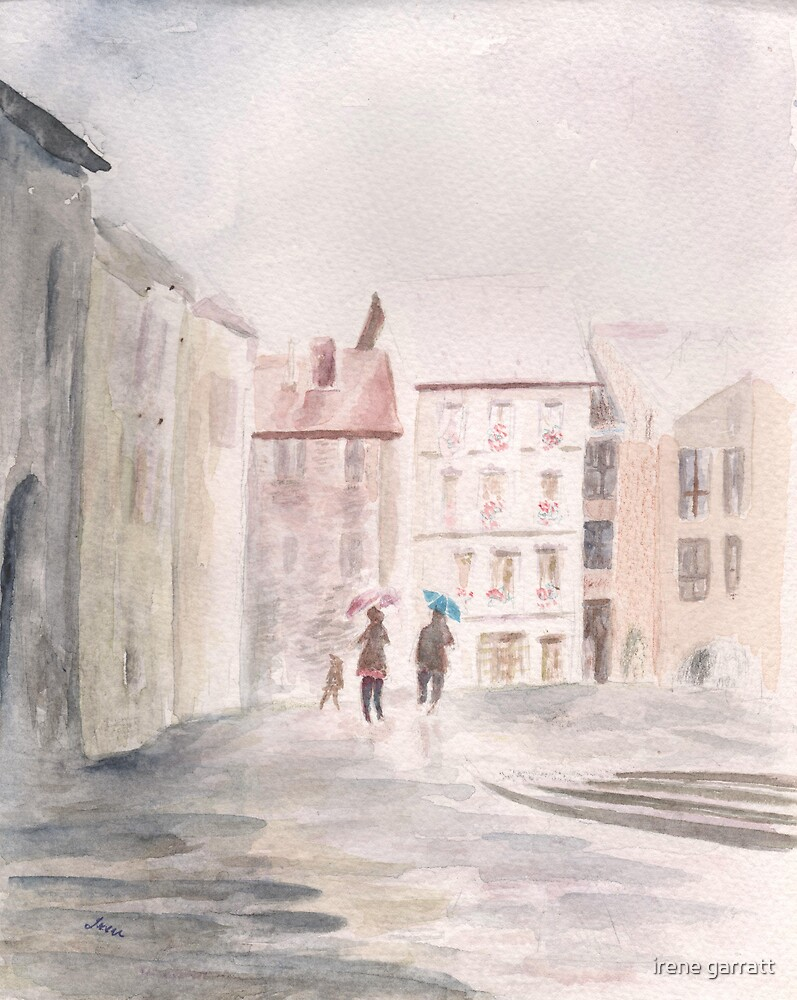 A street scene in Annacy by irene garratt