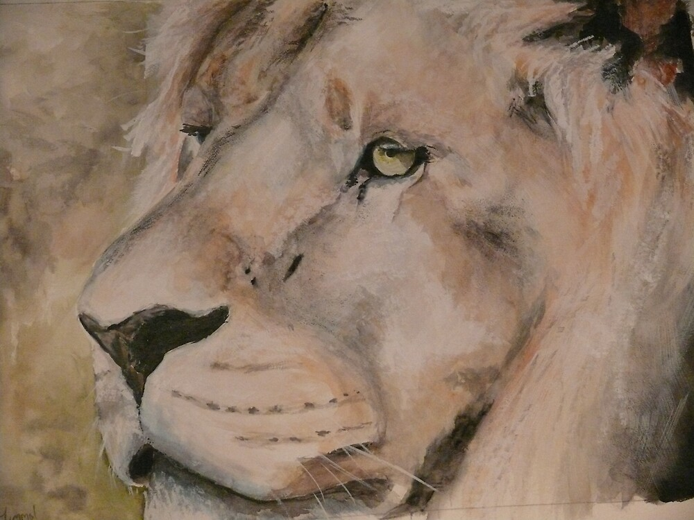 watercolour lion by timmotholden