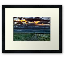 The Rural Road Framed Print