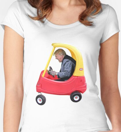 Trump Toy Truck Women's Fitted Scoop T-Shirt