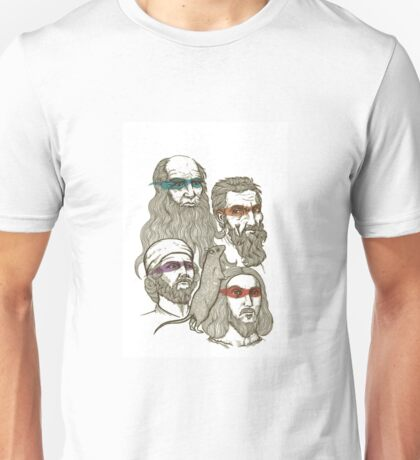 We are four, we are turtles, we are  Artists of the past Unisex T-Shirt