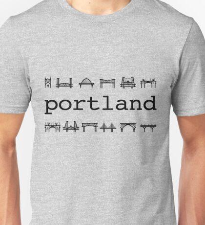 Portland bridges Unisex T-Shirt