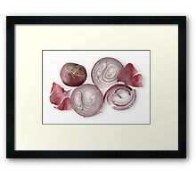Red Onion as a Healthy and Nutritious Dietary Supplement  Framed Print