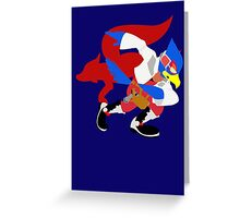 Super Smash Bros Falco Greeting Card