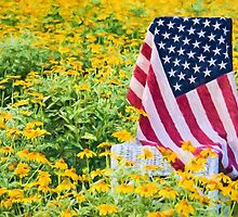 Flag in Flowers by Maria Dryfhout