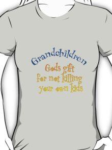 Grandchildren  gods gift for not killing your own children  T-Shirt