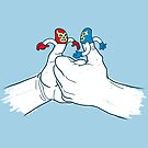 Thumb Wrestlers by Tom Burns