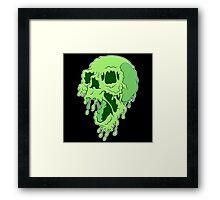 Melty Skull Framed Print
