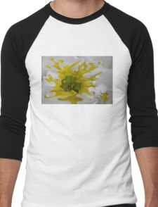 yellow blot Men's Baseball ¾ T-Shirt