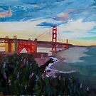 Golden Gate Bridge San Francisco at Sunset by artshop77