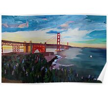 Golden Gate Bridge San Francisco at Sunset Poster