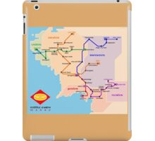 Middle-Earth metro map iPad Case/Skin