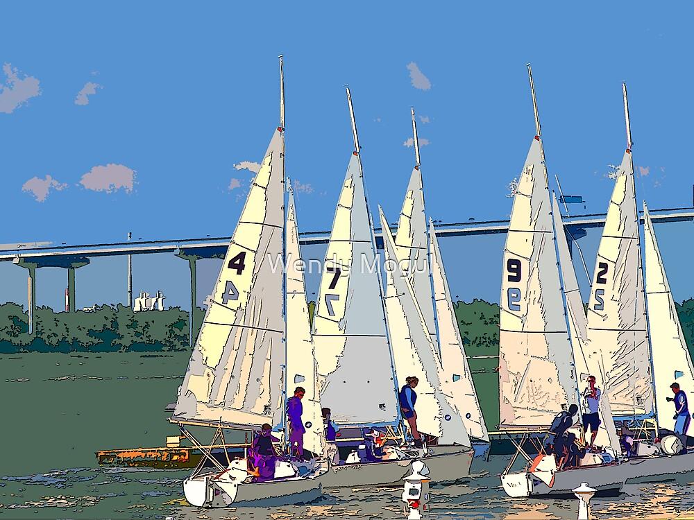 Sailing Team by Wendy Mogul