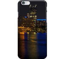 Pittsburgh and the River at Night iPhone Case/Skin