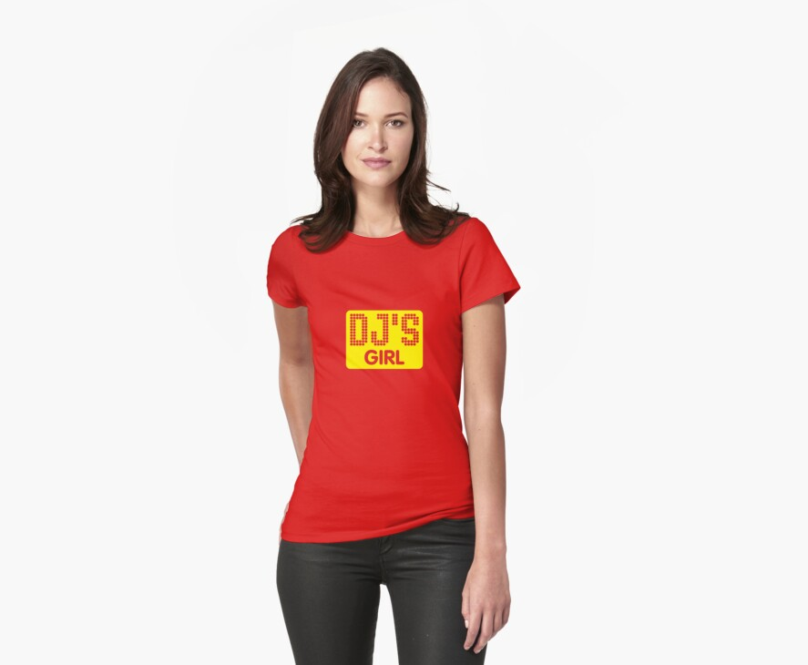 DJ's GIRL by Awesome Rave T-Shirts