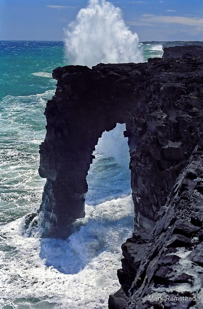 Lava Arch Splash by Mark Ramstead