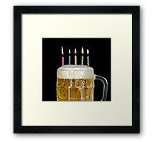 Birthday Beer Framed Print