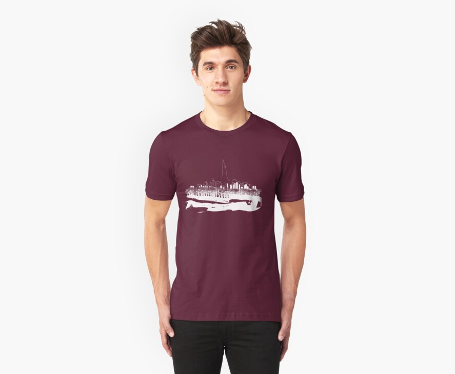 Hidden City on Dark Tees by metronomad