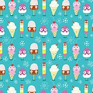 funny pattern of ice cream by Tanor