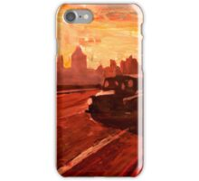 London Taxi Big Ben Sunset with Parliament iPhone Case/Skin