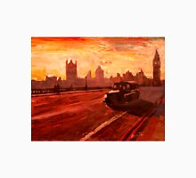 London Taxi Big Ben Sunset with Parliament Unisex T-Shirt