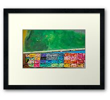 Chalk Colors Framed Print