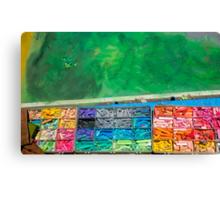 Chalk Colors Canvas Print