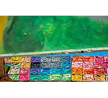 Chalk Colors Photographic Print
